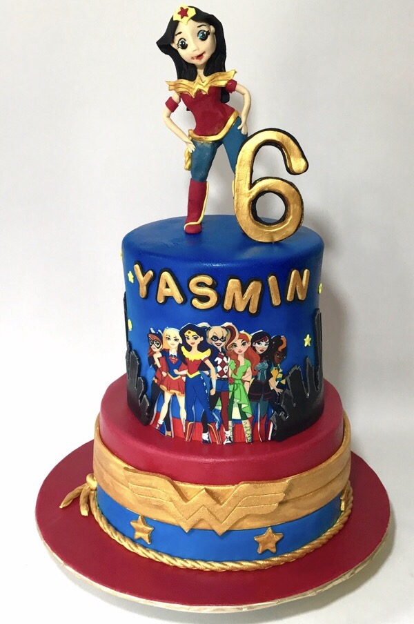 Wonder Woman Superhero Birthday Cake
