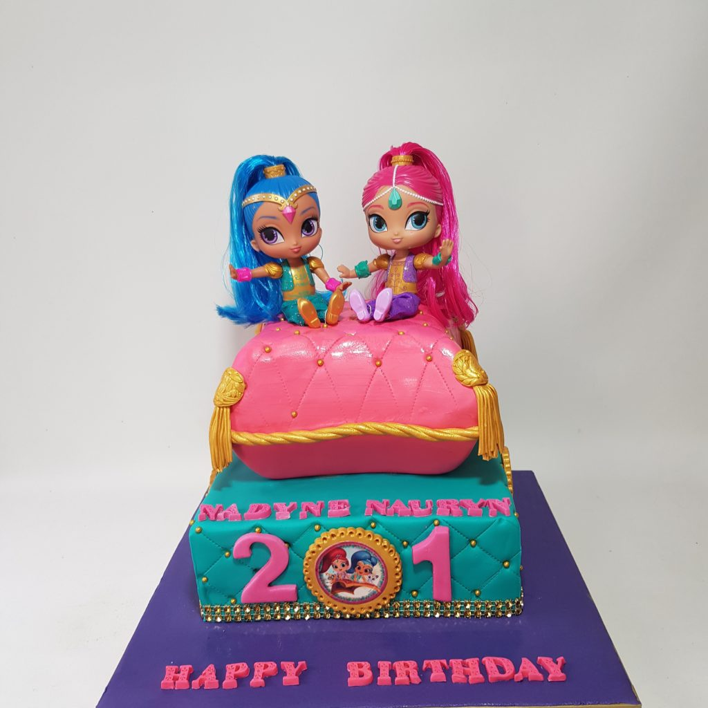Shimmer And Shine 2 Tier Cake Sooperlicious Cakes