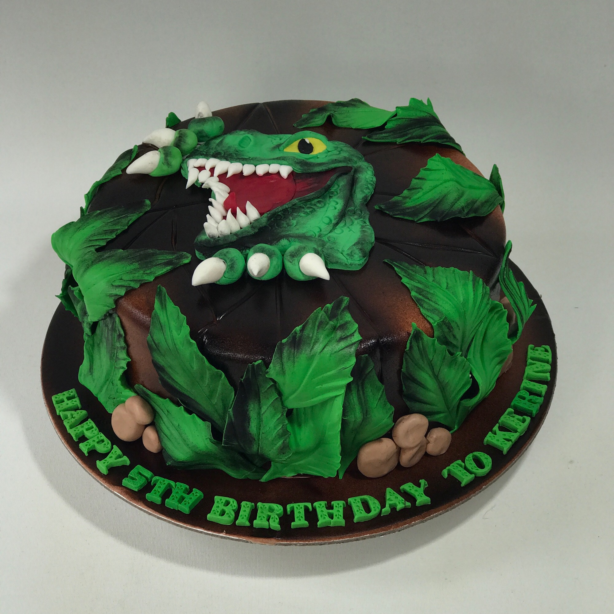 Swell T Rex Birthday Cake Sooperlicious Cakes Personalised Birthday Cards Paralily Jamesorg