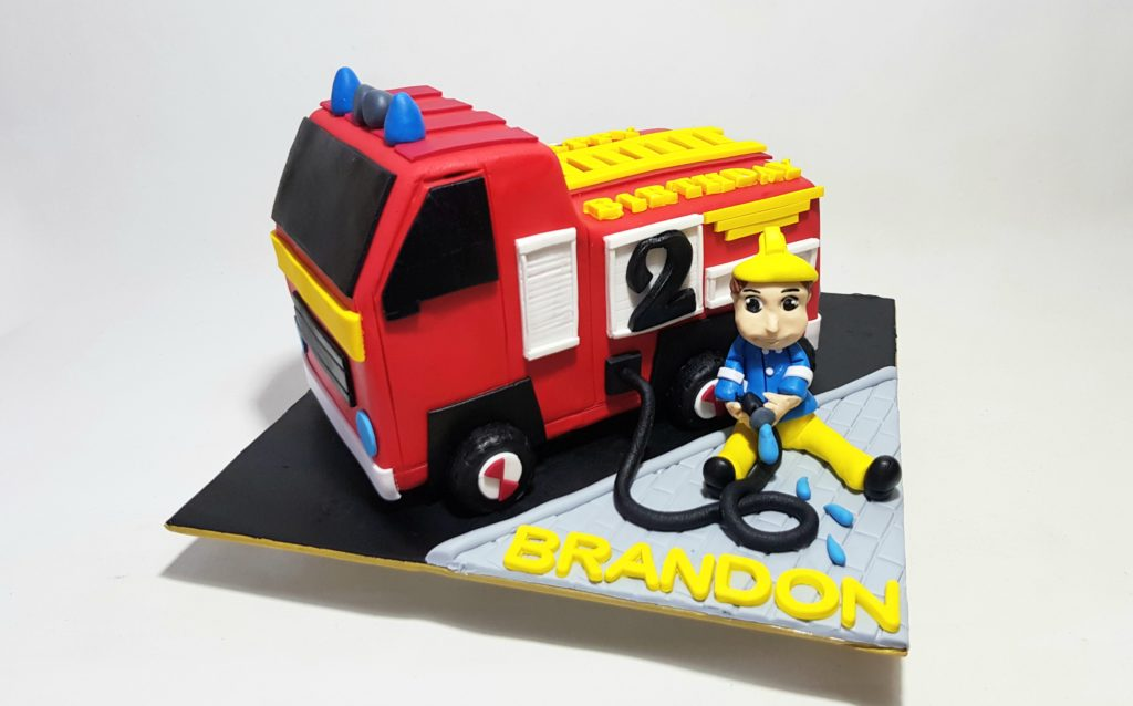 Phenomenal Fire Engine Birthday Cake Sooperlicious Cakes Personalised Birthday Cards Arneslily Jamesorg