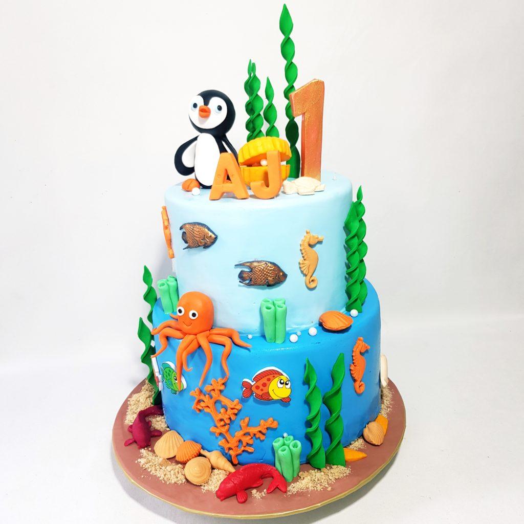 Sensational Ocean Theme Birthday Cake Sooperlicious Cakes Personalised Birthday Cards Sponlily Jamesorg