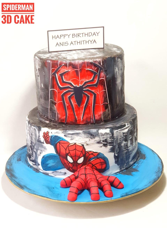 Prime Spiderman Birthday Cake Sooperlicious Cakes Funny Birthday Cards Online Elaedamsfinfo