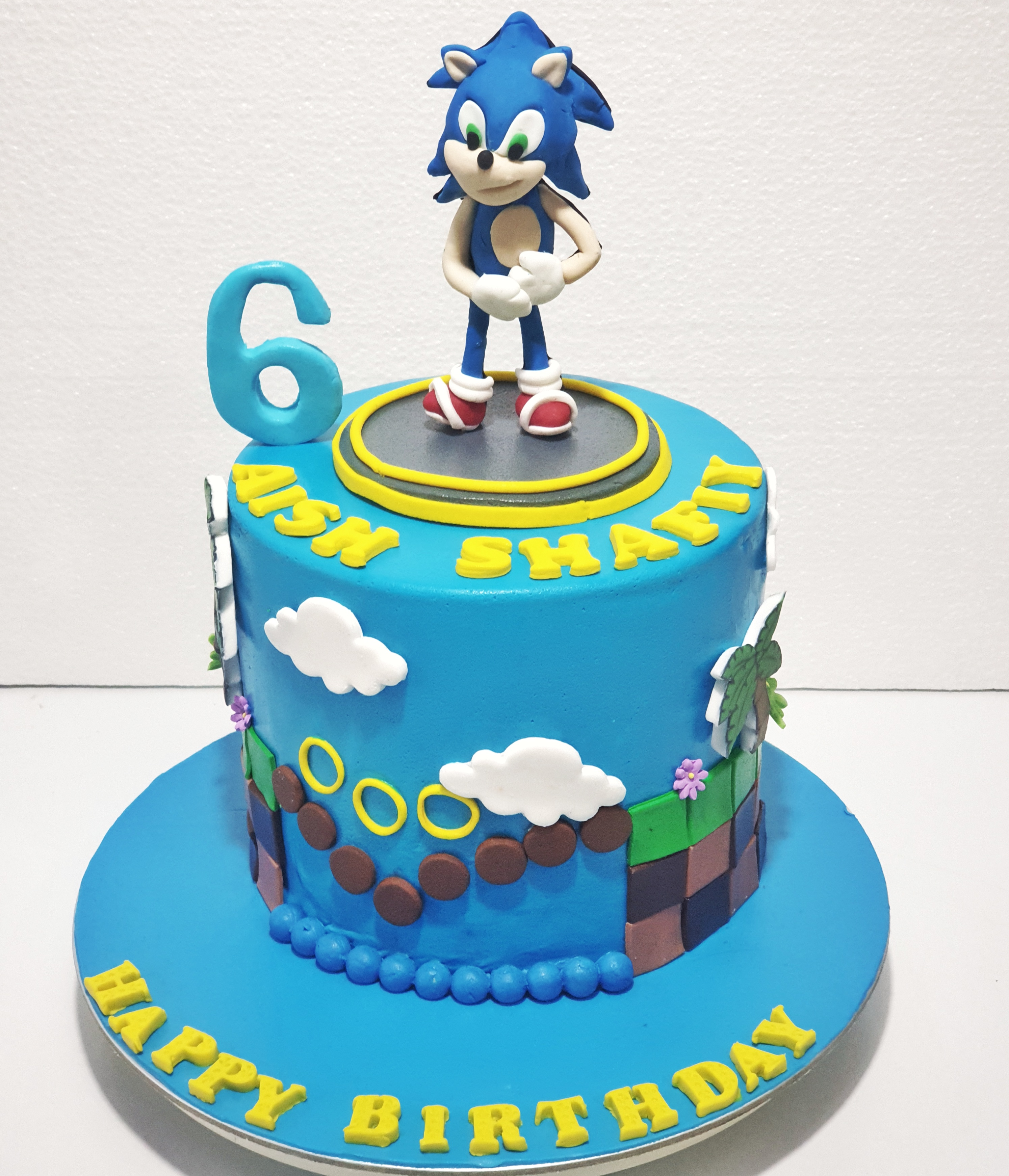 Groovy Sonic Hedgehog Birthday Cake Sooperlicious Cakes Funny Birthday Cards Online Elaedamsfinfo